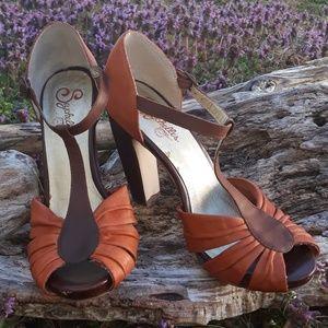 Seychelles Leather Heel, Vintage,  Size 8